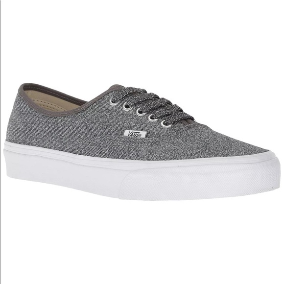 Vans Women's Authentic Shimmer Silver Shoes NIB NWT